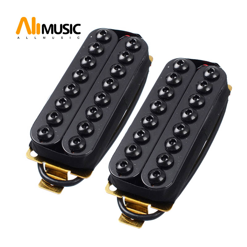ALLMusic Ceramic Magnet 8 String Guitar Humbucker Pickup 67mm 73mm Pickups Black