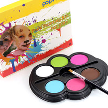Popfeel Colorful Child Face Body Paint Kit Eyeshadow Cream Concealer Contour Palette Base Foundation Corrective