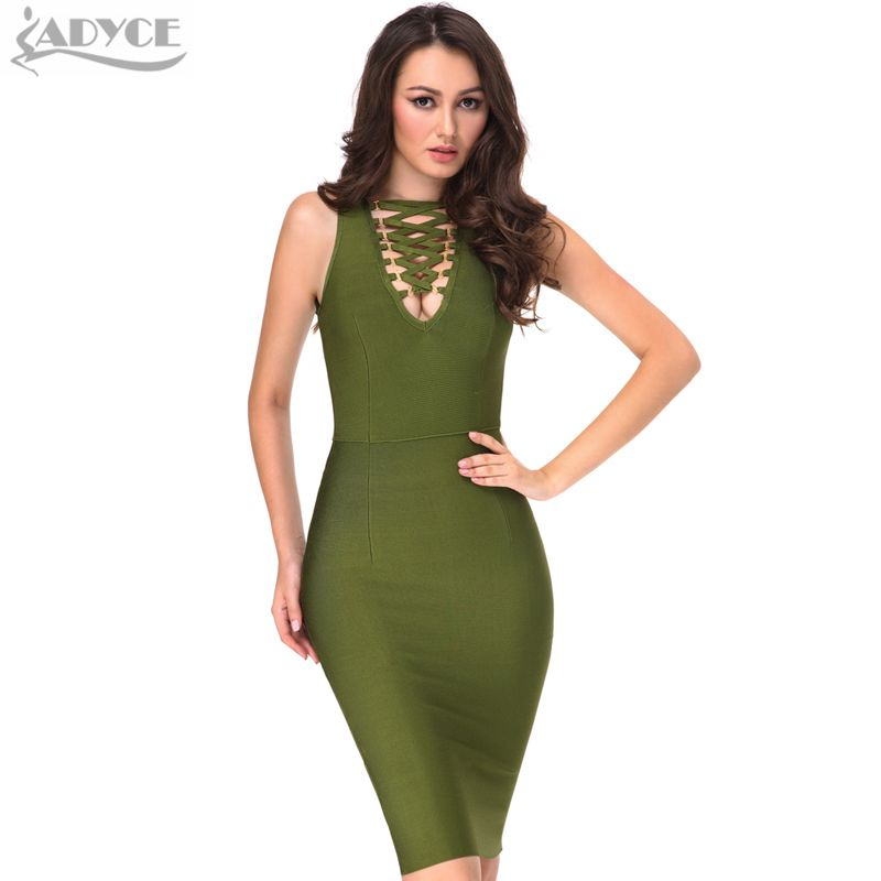 2019 new Women Summer Bodycon Dress Party Bandage Dress Green Black White Red Backless Celebrity Runway Dresses Club Vestidos
