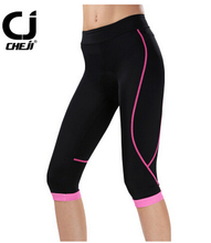 CHEJI Female Bicycle Seventh of Shorts Women Sport Outdoor Cycling Clothing Pant