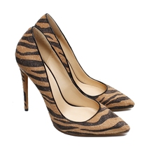 hot deal buy leopard style women sexy banquet shoes pointed toe simple style slip-on pumps leopard celebrity high heels 12cm heel shoes c011a