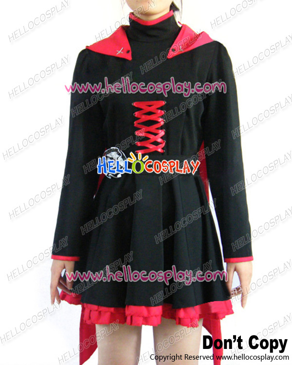 RWBY Cosplay Red Trailer Ruby Rose Uniform Costume H008