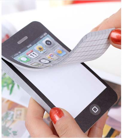 2 PC/LOT Hot Selling Fashion Mobile-Phone-shaped Memo Pad, , Sticky Note For Writing