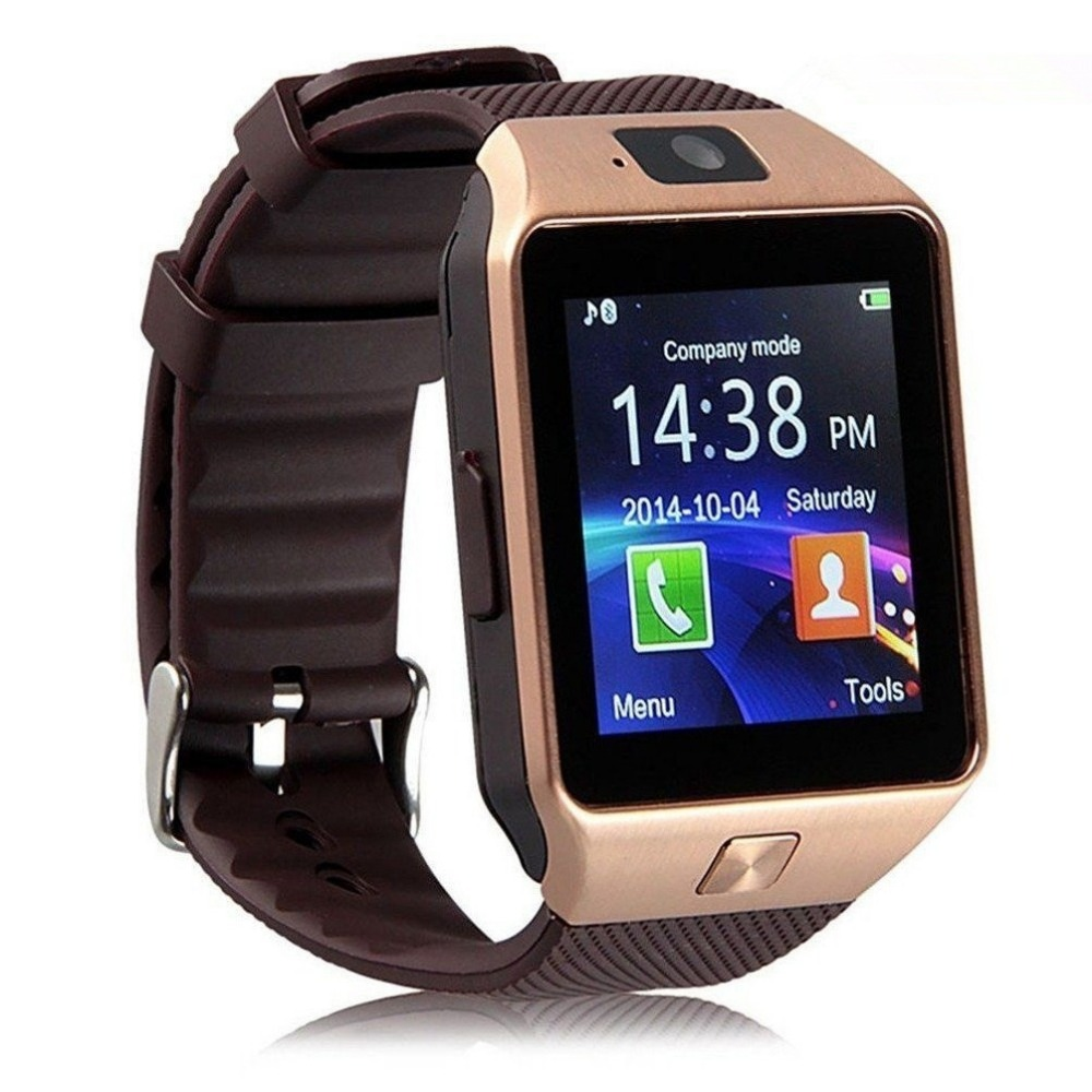 nuevo estilo 3bb35 cb1e1 CURREN DZ09 reloj inteligente reloj Digital Reloj de los hombres para Apple  iPhone Samsung Android Teléfono móvil Bluetooth tarjeta SIM TF Cámara