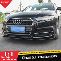 For Audi A6 Body kit spoiler 2017 2019 For Audi A6 ABS Rear lip rear spoiler front Bumper Diffuser Bumpers Protector