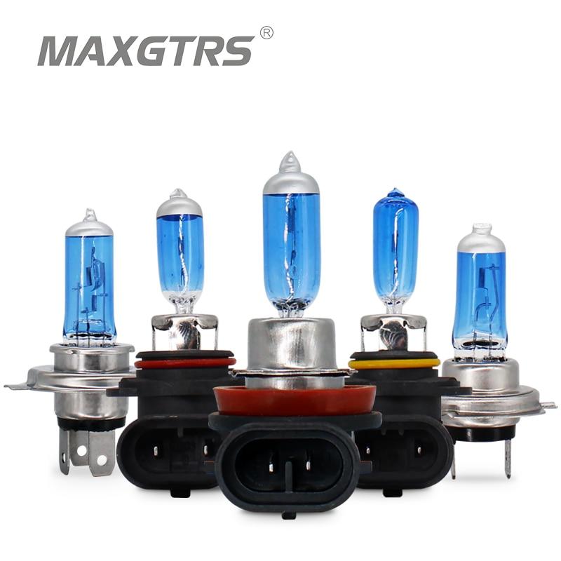 2x12 V 55 W/100 W 6000K H4 H7 H8 H11 9005 9006 HB3 HB4 Автомобильная противотуманная фара лампа супер белая галогенная лампа автомобильная фара