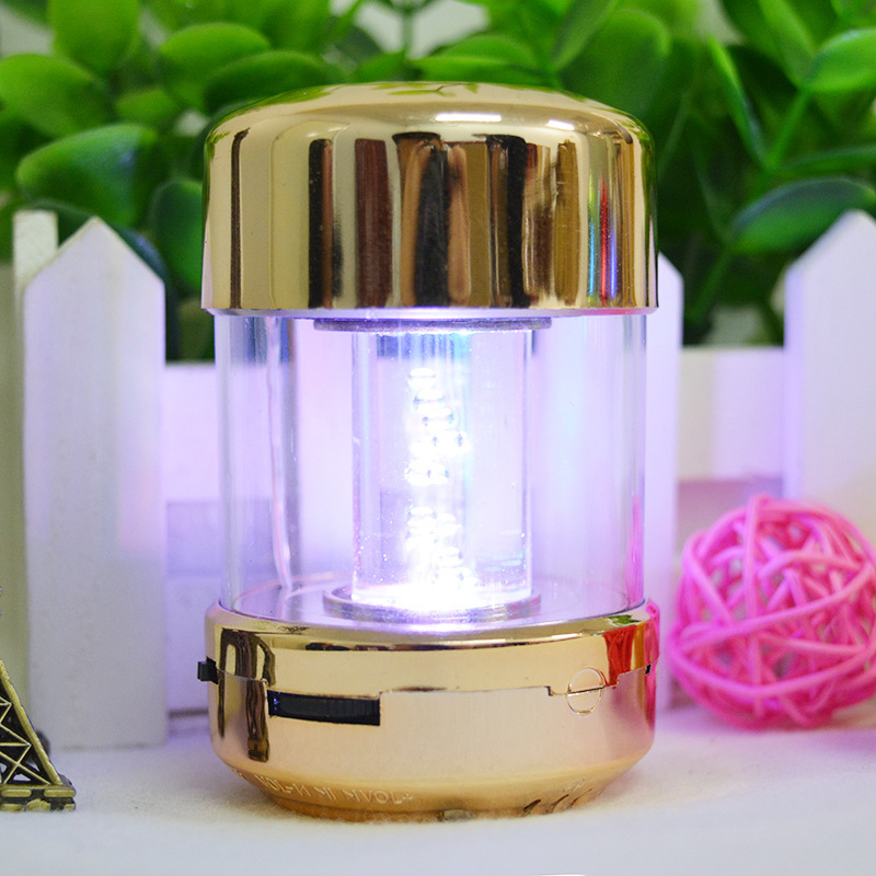 2017 New toothpick Bluetooth speaker mini convenient multi function colorful led small sound