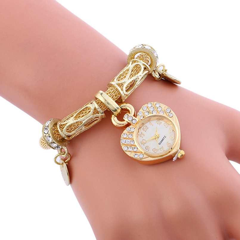 New Arrive Rhinestone Watches Women Luxury Brand Stainless Steel Bracelet Watches Ladies Quartz Dress Watches Reloj Mujer