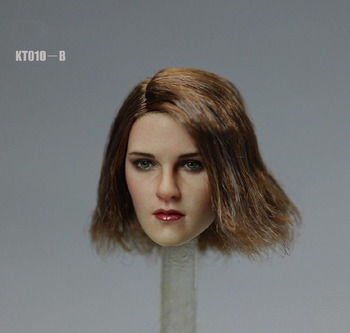 1/6 Kristen Stewart Head for 12 inches Female Seamless Action Figure Body