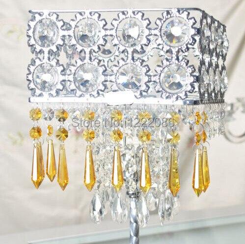 Pcs GOLDEN YELLOW GLASS CHANDELIER CRYSTALS PRISMS HANGING - Yellow chandelier crystals