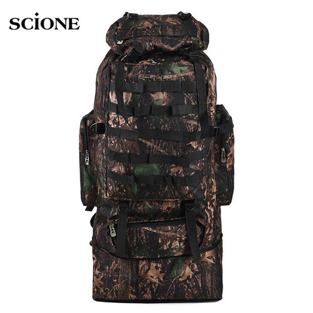 scione 100L Military Molle Bag Camping Tactical Backpack Men Large Backpacks Hiking Travel Outdoor Sport Bags Rucksack XA231WA