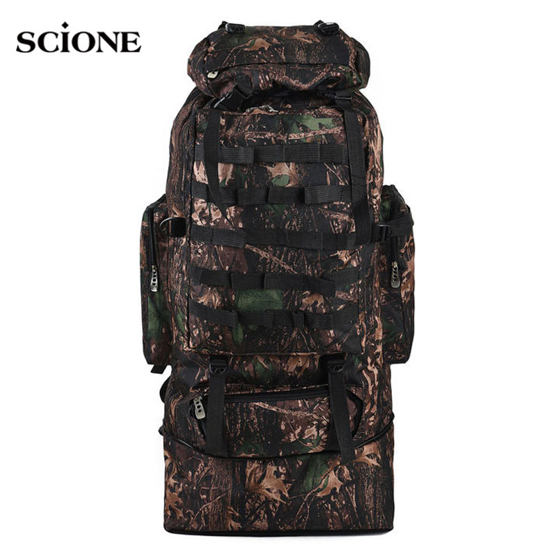 scione 100L Military Molle Bag Camping Tactical Backpack Men Large Backpacks Hiking Travel Outdoor Sport Bags Rucksack XA231WA