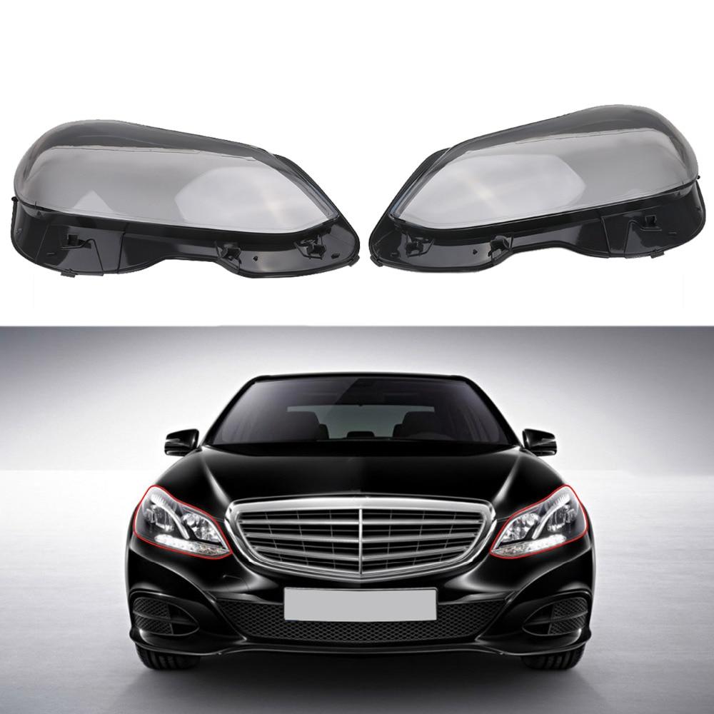 Couvercle d'objectif de phare avant de voiture pour Mercedes Benz classe E W212 S212 E250 400 63 AMG 2013-2016 remplacement de phare au xénon halogène