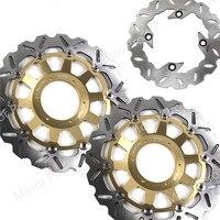 Для Honda CBR929RR 2000 2001 спереди и сзади тормозного диска тормозной диск комплект мотоцикла CBR 929 RR CBR929 929RR CBR954RR CBR954 2002 2003