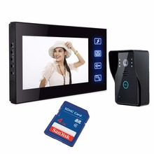 7″ Color Record Screen Video Intercom Door Phone + 4G SD Electric lock Free Shipping