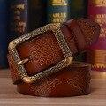 100% Genuino cinturones de cuero para las mujeres de lujo de la correa de la vendimia femenina correa hebilla hombres cinturones de diseñador de moda clásica de alta calidad