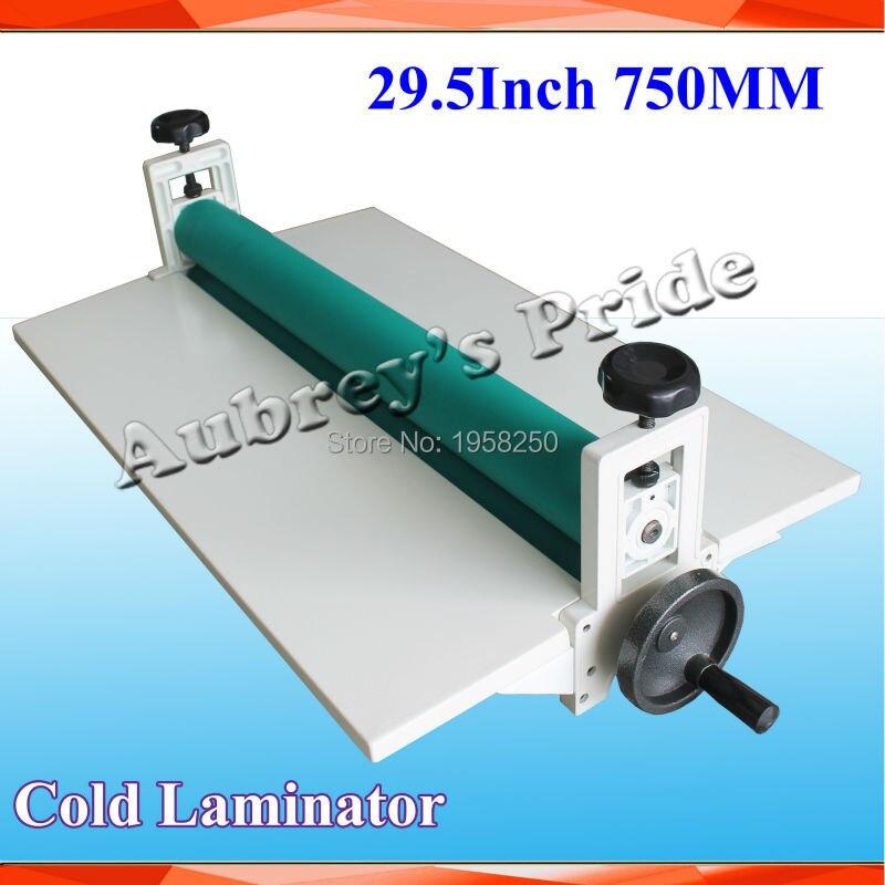 Free Shipping Desktop Manual Metal Frame 29 5Inch 75CM Longth Cold Laminator Laminating Machine Perfect Protect