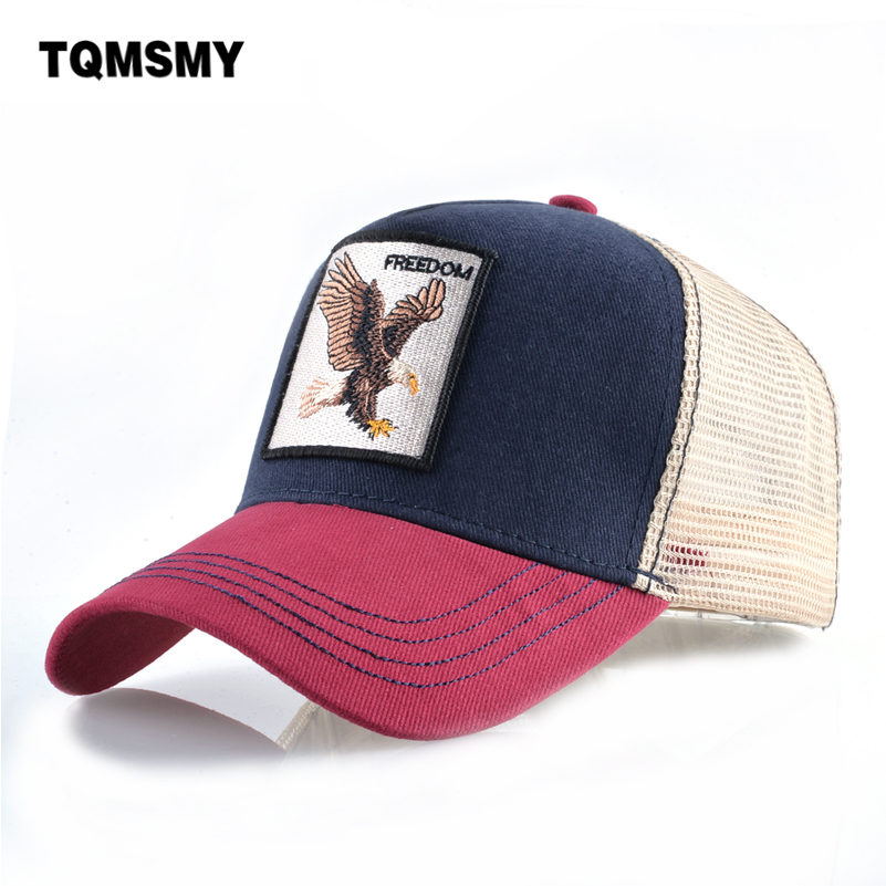 Casual   Baseball     Caps   For Men Embroidery Eagle Snapback   cap   Women Summer Mesh Trucker Bones Unisex Hip Hop Hat Cotton Casquette