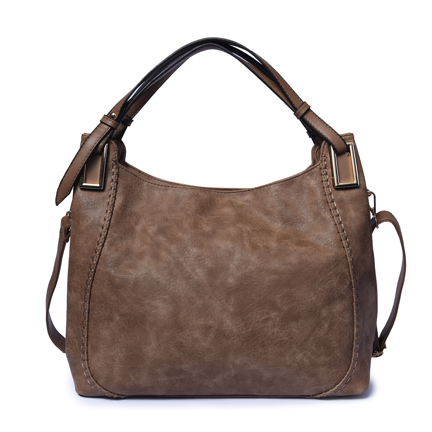 Vintage Women's Hobo Handbags Shoulder Tote Bag Faux Leather Work Office Sling Bag Casual Fossil Purse faux leather minimalist practical 3 pieces tote bag set page 5