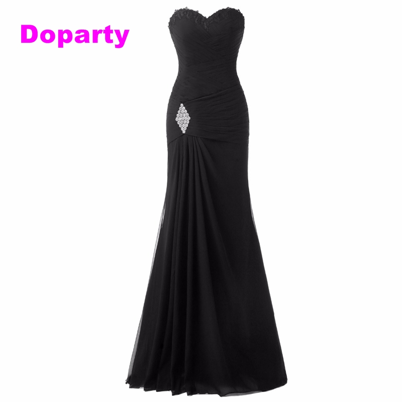Doparty Sexy plus size black cheap mermaid elegant long party floor length mother of the bride dresses evening dress in dubai