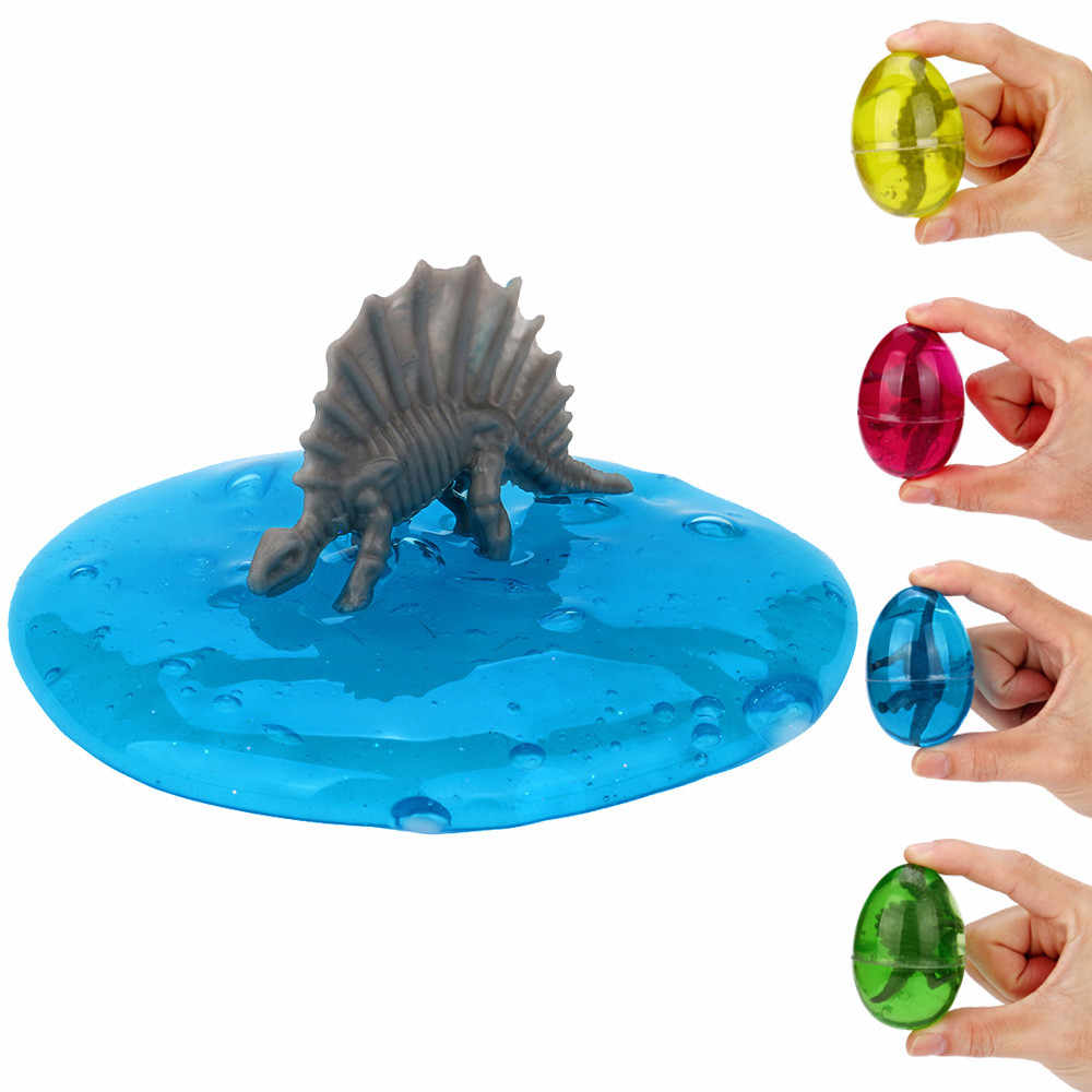 Squish Squeeze Slime Fluffy Foam Dinosaur Eggs Soft Scented Transparent Slimes Toys Anti Stress Sludge Mud Toys For Kid FE01d