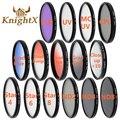 Knightx nd filtro de cor da lente de 52mm 58 67 55 77mm para nikon canon EOS 5D 6D 7D 50D 60D 600D d5200 d3200 d3300 T5i FLD UV MC estrela
