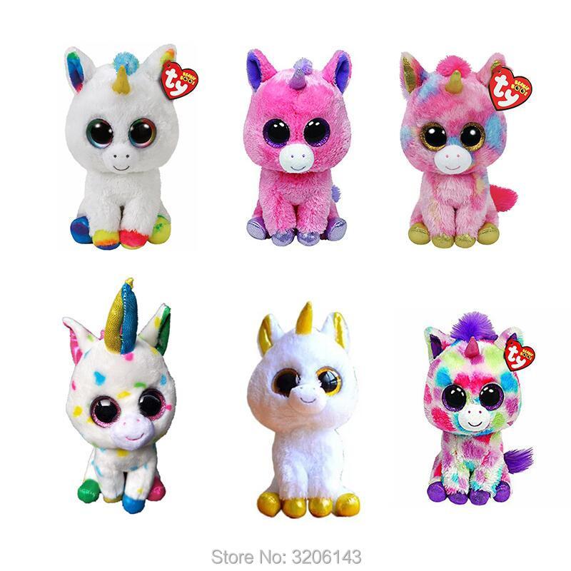 faaa9334d2a Ty Beanie Boo Unicorns Magic Wishful Pegasus Harmonie Pixy   Fantasia Big  Eyes Plush Stuffed Animals Collection Christmas Gift