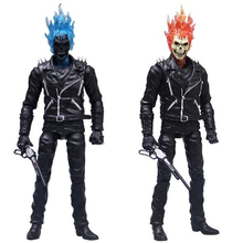 Ghost Rider Johnny Blaze PVC Action Figure Collectible Model Toy 23cm EO50 mezco saw the texas chainsaw massacre leatherface pvc action figure collectible model toy 23cm
