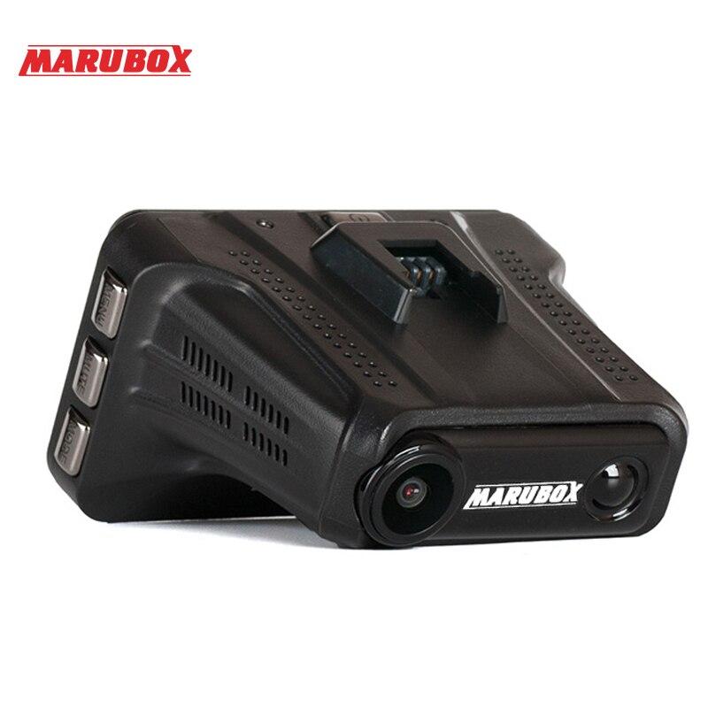 ZENISS Лидер продаж Marubox Автомобильная камера DVR Радар детектор GPS регистратор 3в1 HD1296P 170 градусов Автомобильный видеорегистратор для России M610R - 3