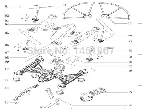 JXD 509 509W 509V 509X RC Quadcopter spare parts motor