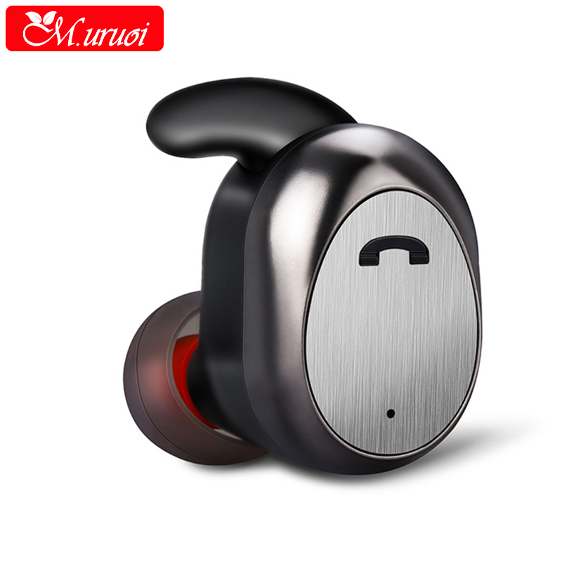 M.uruoi Inear Earphone Wireless Bluetooth 4.2 Headset Mini Wireless Earbud Handsfree Earpieces For iphone Xiaomi Huawei kulakl k