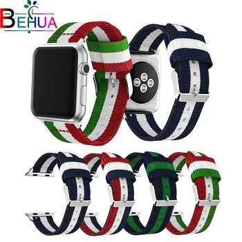 цена на Sport woven nylon strap for apple watch band 42mm 38mm 44mm bracelet wrist belt watchband for iwatch 4/3/2/1 series replacement