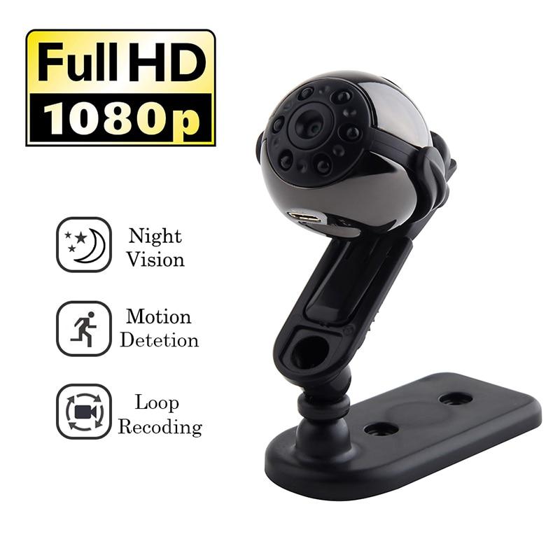 SQ9 HD 1080P Night Vision Small Mini Micro Camera DV Portable Infrared Night Motion Detection Camcorder 360 Degree Rotation