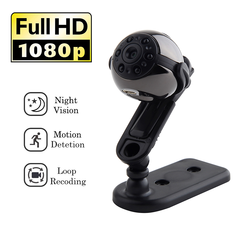 SQ9 Mini Wireless Camera HD Video 1080P Indoor IR-CUT Night Vision CCTV Home Security Concealed Camera Sport Micro Cam with Mic