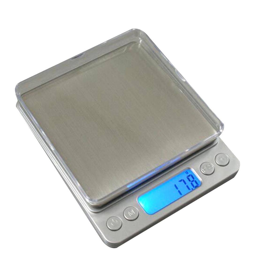 Elektronische Küche Skala 1000g/2000g/3000g Gewicht Balance Hohe Genauigkeit Schmuck Waagen Essen Diät Waage mit Blauen Schwarzlicht