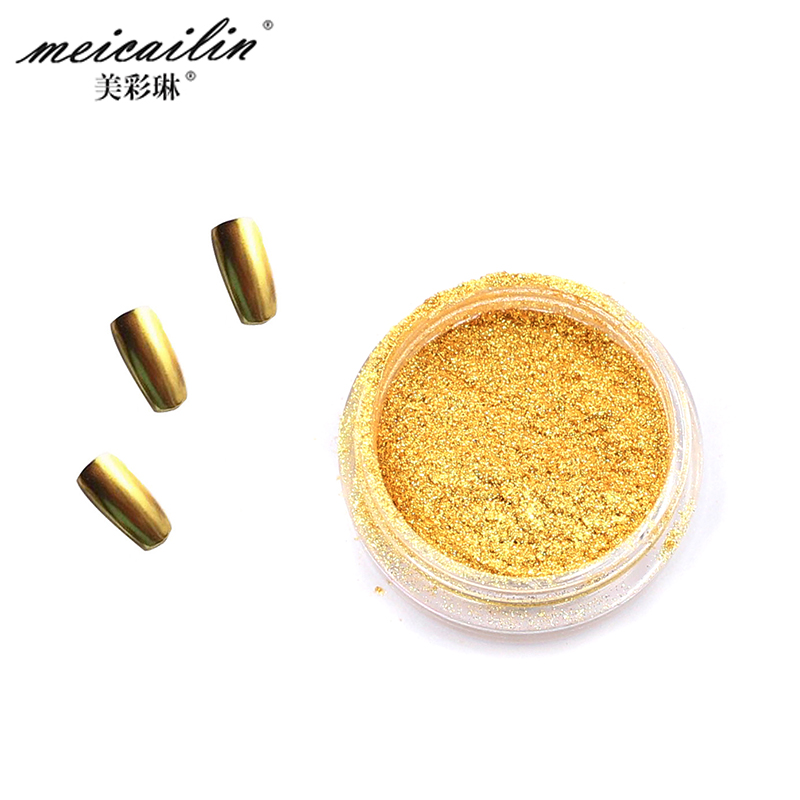 Top Sale 1g Gold Sliver Nail Glitter Powder Shinning Mirror Nails Glitter Powder Dust Nails Art DIY Chrome Pigment Nail Glitters