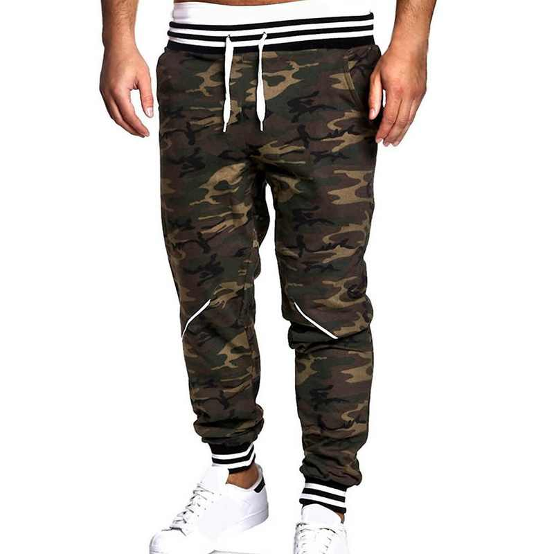 460cd28864a LASPERAL 2018 New Casual Pants Men Camo Slim Fit Pants Joggers Fashion Long  Trousers Autumn Summer