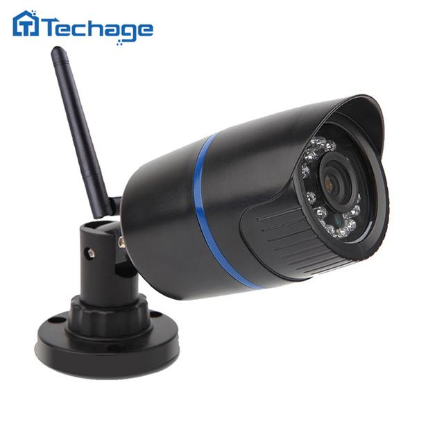 Techage câmera hd 1.0mp 720 p ip com fio sem fio à prova d' água p2p onvif wi-fi câmera motion detectar nignt visão cctv casa segurança
