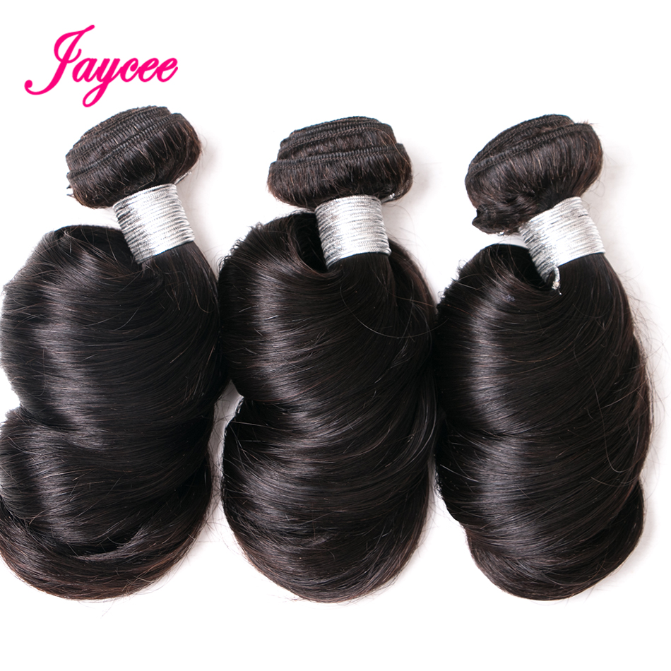 Jaycee Hair Indian Loose Wave Natural Color Remy Hair 100% Human Hair Weave Bundles Extension Suitable Dying All Colors