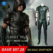 MANLUYUNXIAO Big Sale! Men's Costume Green Arrow Costume Men Full Suit Halloween Cosplay Costumes For Men