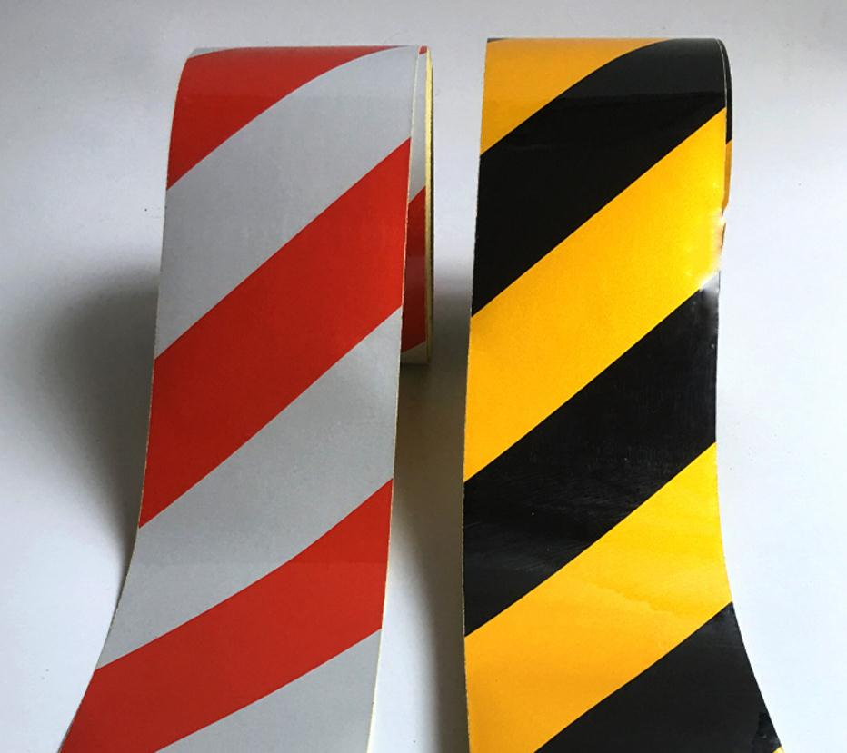 45meters, Width 10cm Low Reflective Traffic Warning Color Adhesive Tape, Safety Equipment Warning Tape With Glue,