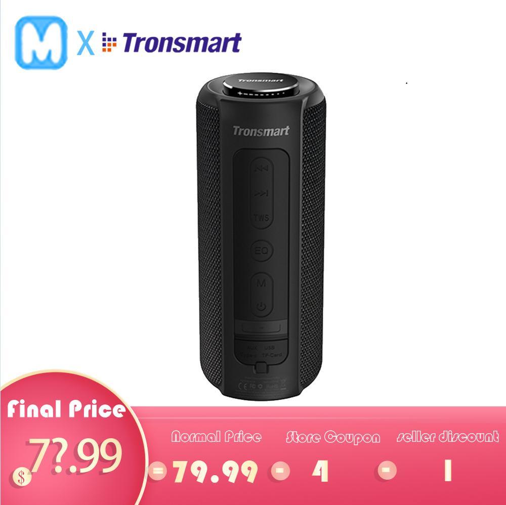 Tronsmart T6 Plus haut-parleur Bluetooth 40W haut-parleurs portables Colums barre de son basse profonde avec IPX6 étanche, TWS, pour Siri, SoundPulse