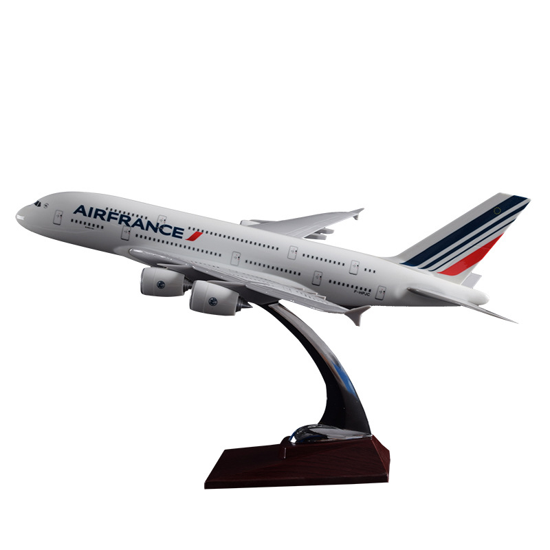 45cm A380 Air France Resin Airplane Model French Airlines Airways A380 International Aviation Aircraft Model Gift Toys Souvenir new phoenix 11207 b777 300er pk gii 1 400 skyteam aviation indonesia commercial jetliners plane model hobby