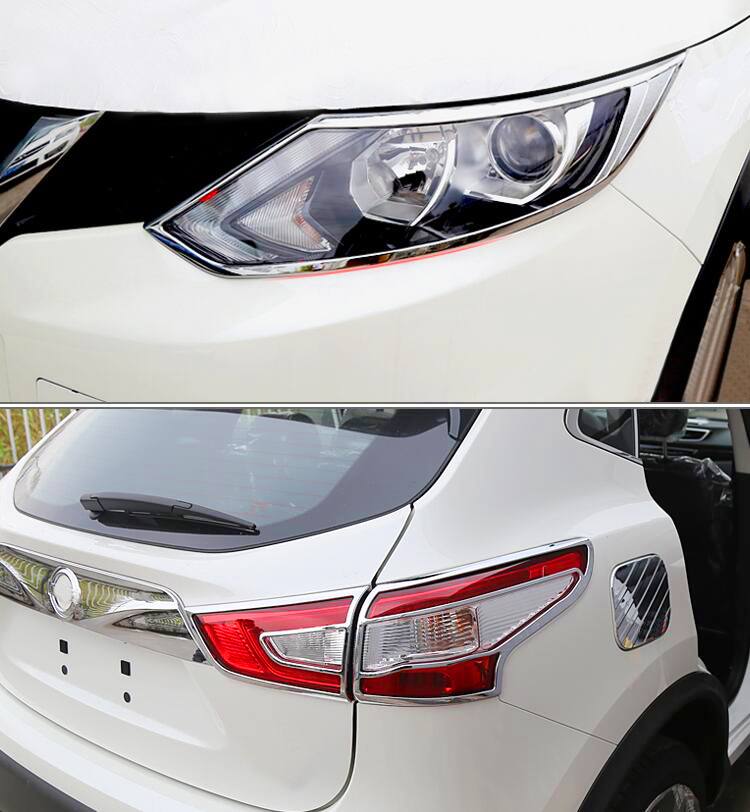 ABS Chrome Rear Tail Light Lamp Cover Bezel Trim For Ford Kuga Escape 2017-2019