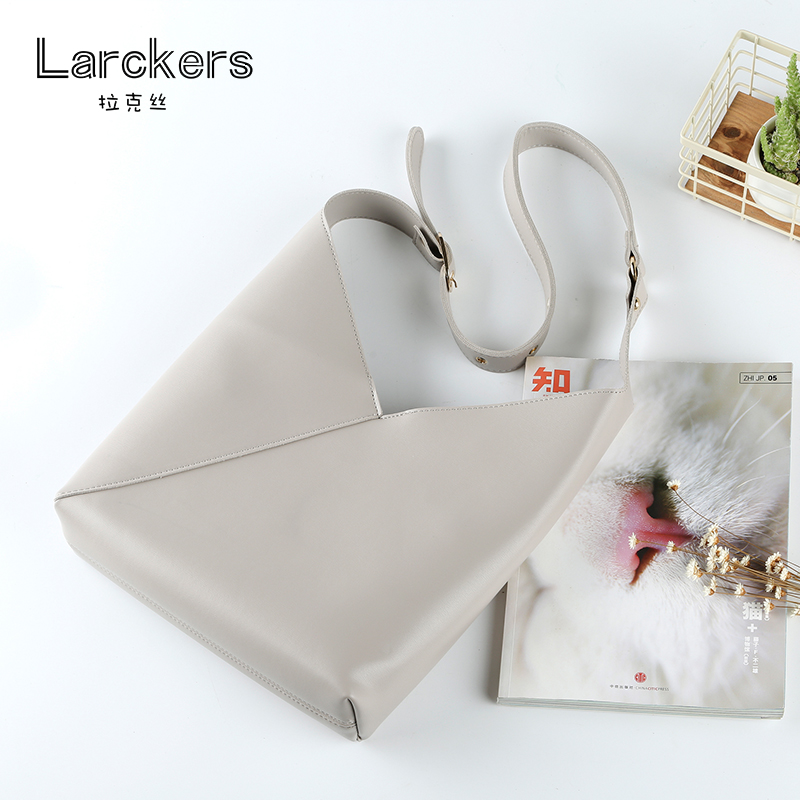 PU solid bucket women bag hollow out fashion shoulder bag women V Open design handbag composite inside small bags