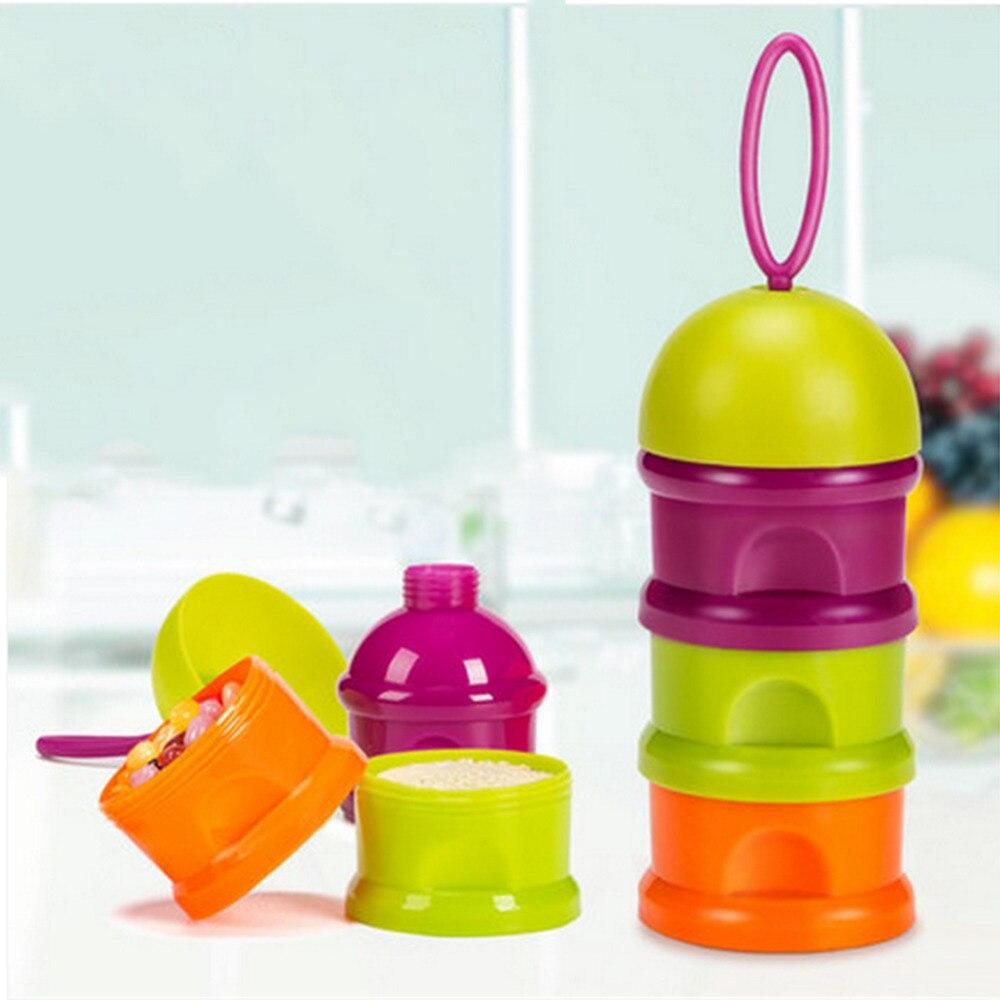 Herzhaft Sicher Bunte Non-slip Baby Milch Pulver Box Dispenser Separate Sub-box Milch Pulver Box 3 Schichten Lagerung Box Einfach Zu Verwenden Flaschenzuführung Aufbewahrung Von Säuglingsmilchmischungen