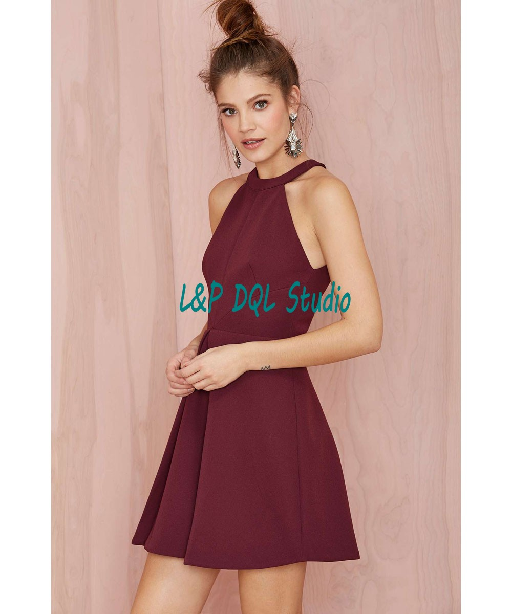 Sexy Burgundy Party Dresses Short Cocktail Dresses 2016 Summer ...