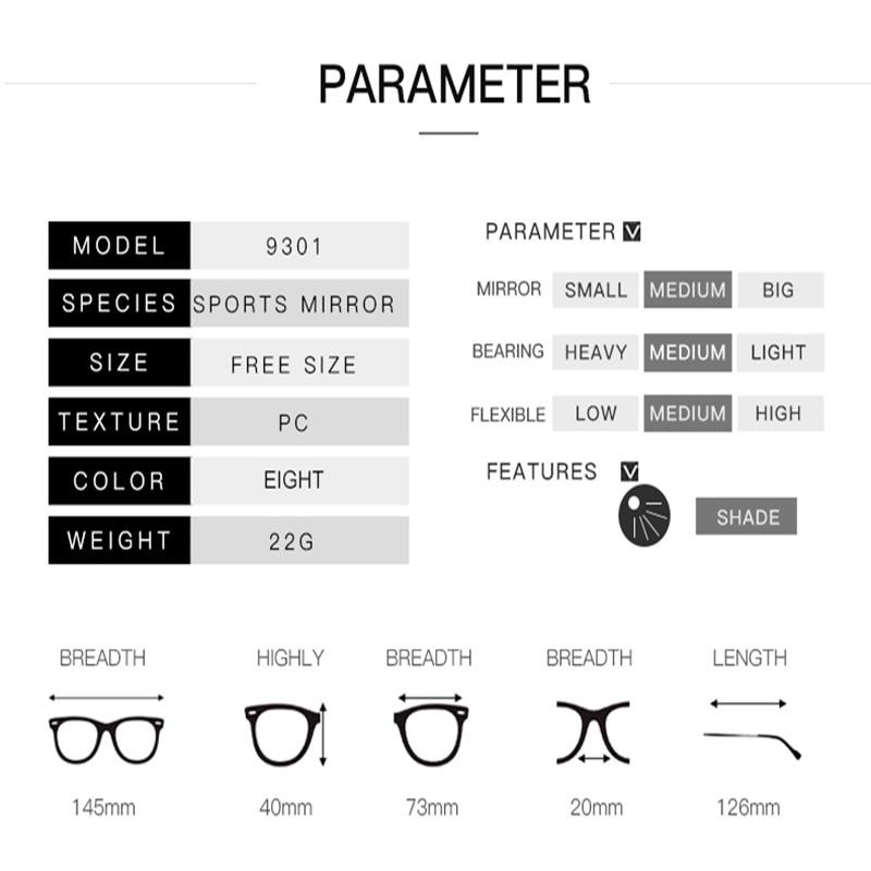 Disjuntor de Proteção Óculos Esportes Homens Uv400 Óculos