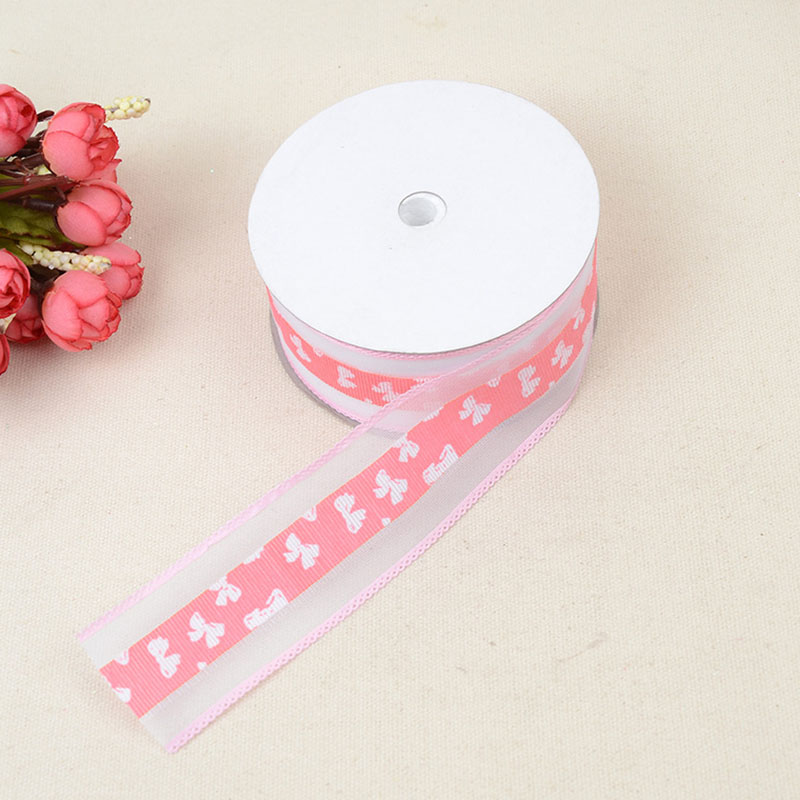 Ultrasonic Embossed Ribbon 3 8cm 20 Yards Color Flower Gift Box Lace Clothing Shoes Belt Accessories Decorative Ribbon in Webbing from Home Garden