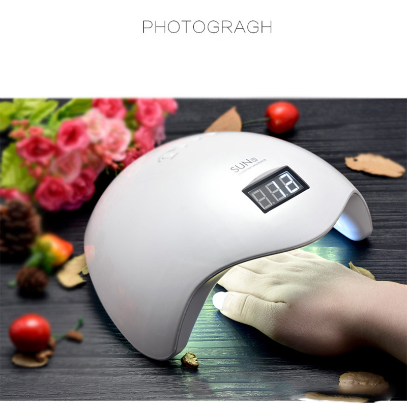 Gel Nail Dryer Lamp 48W SUN5 White Light Profession Manicure LED UV Dryer Lamp Fit Curing All Nail Polish Nail Gel Art Tools new gel nail dryer lamp 48w sun5 white light profession manicure led uv dryer lamp fit curing all nail polish nail gel art tools